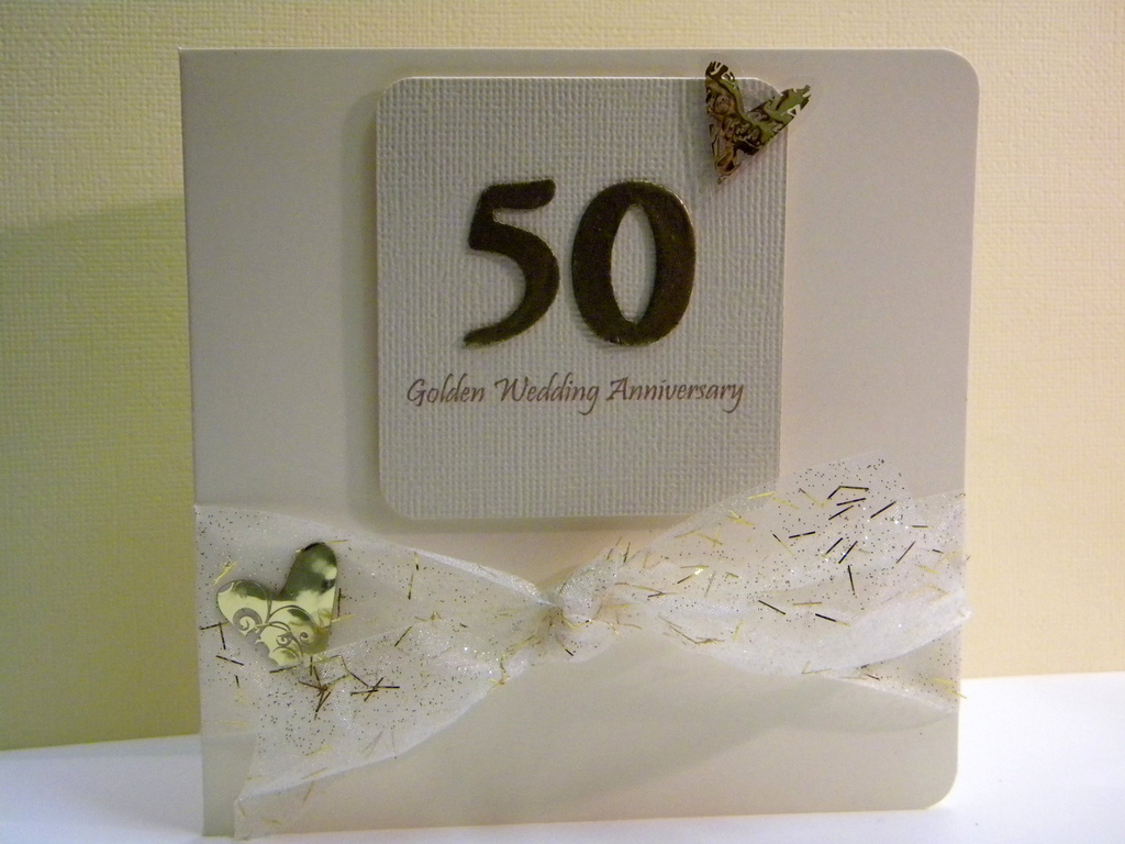 50th wedding anniversary card the handmade card blog