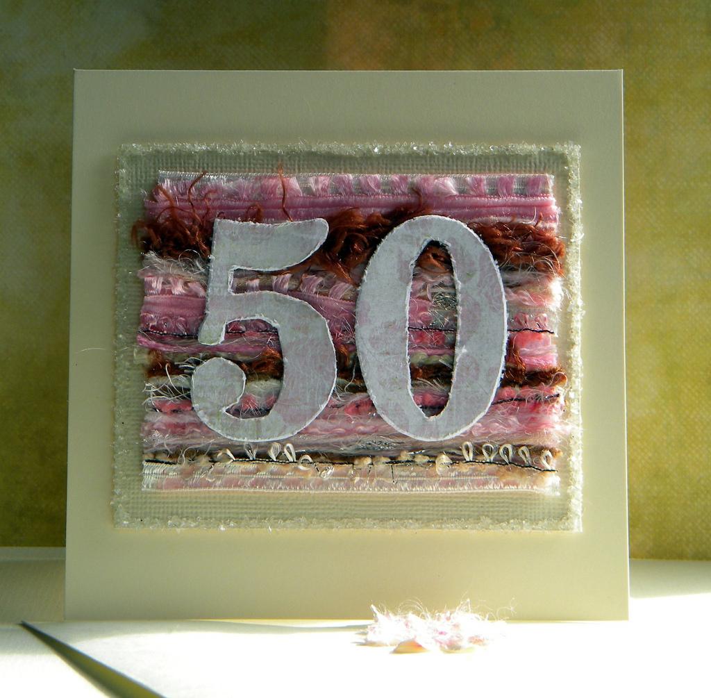 Wonderful Card Making Ideas 50th Birthday Part - 2: Supplis List :-