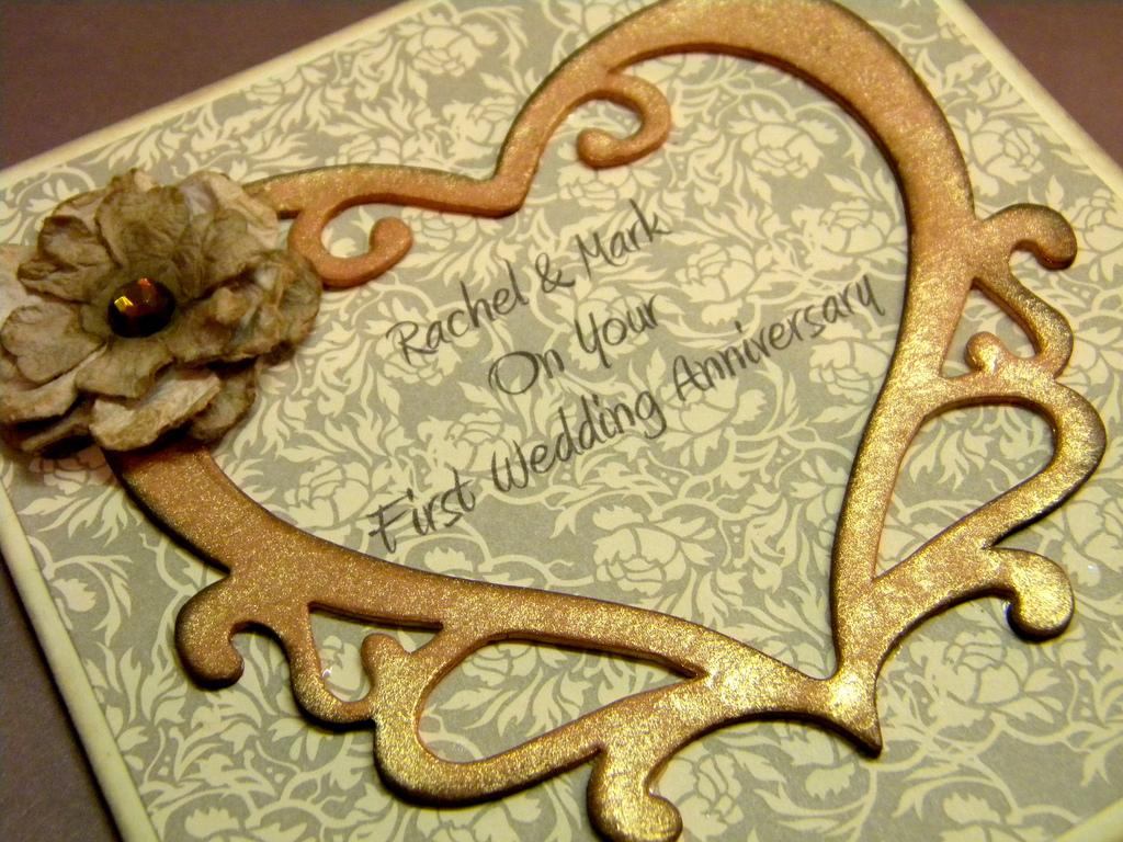 Greeting card original personalised wedding anniversary card st
