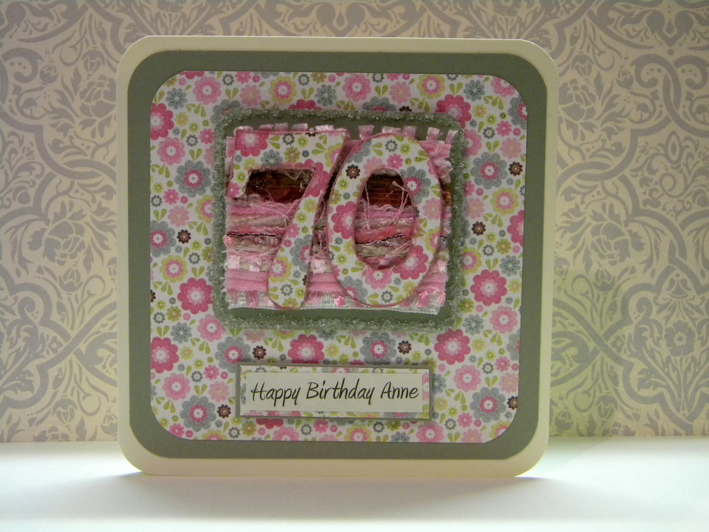 70th birthday card  The Handmade Card Blog