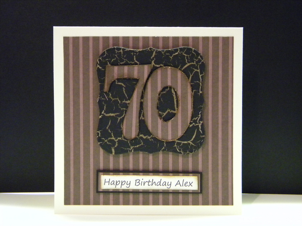 70th birthday card – Handmade 70th Birthday Cards