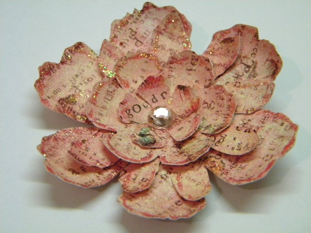Handmade Tattered Floral Flower (1/3)