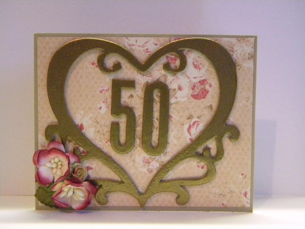 Th wedding anniversary card envelope tag the handmade card