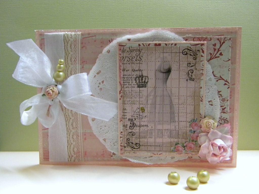 Shabby Chic Dressform Card  The Handmade Card Blog