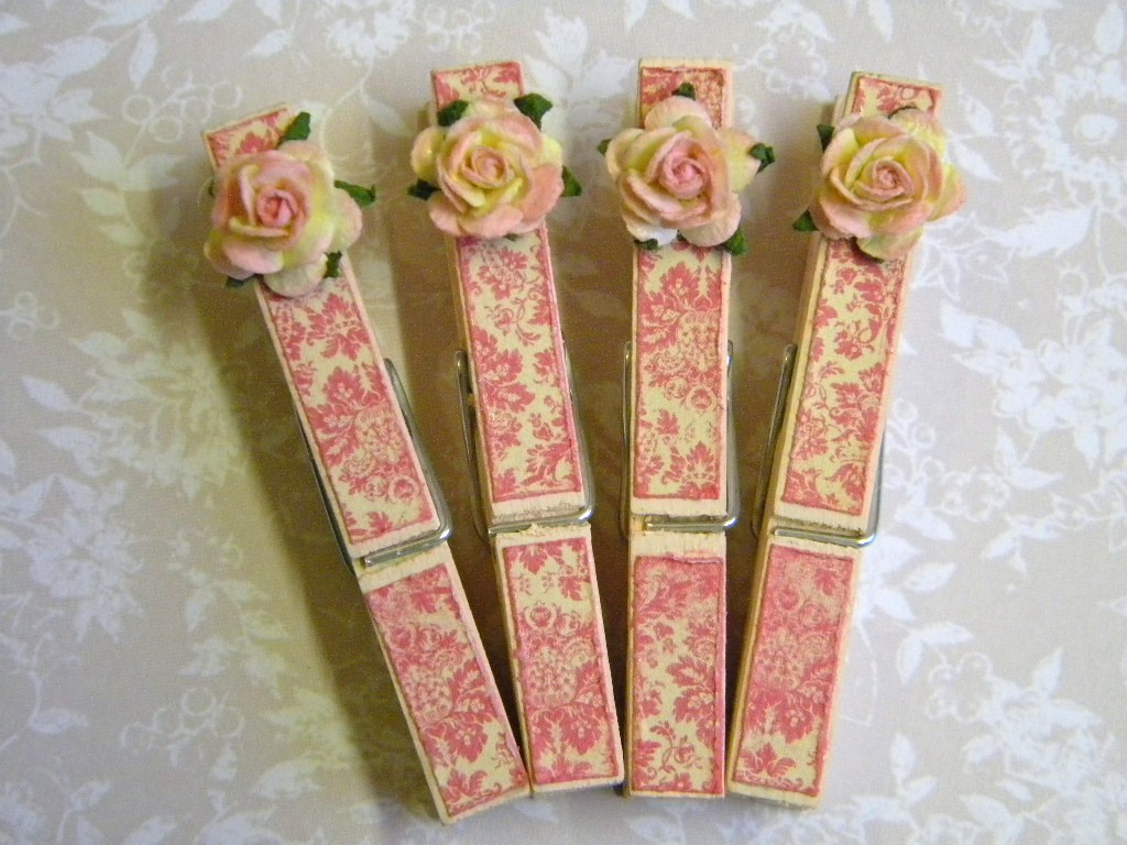 Shabby Chic Clothes Pins The Handmade Card Blog