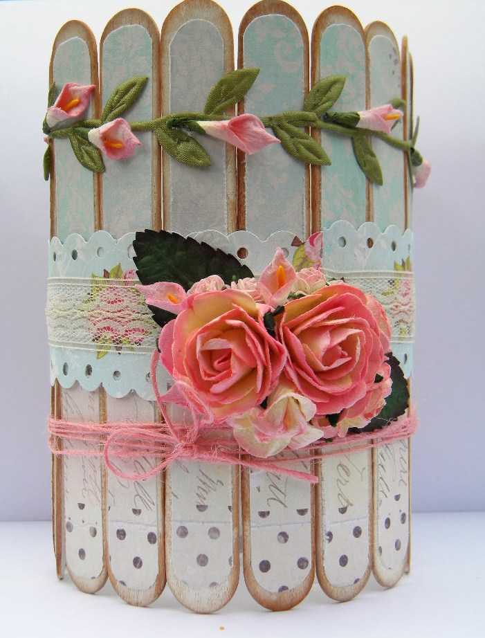 Shabby Chic Container for my Paint Brushes The Handmade