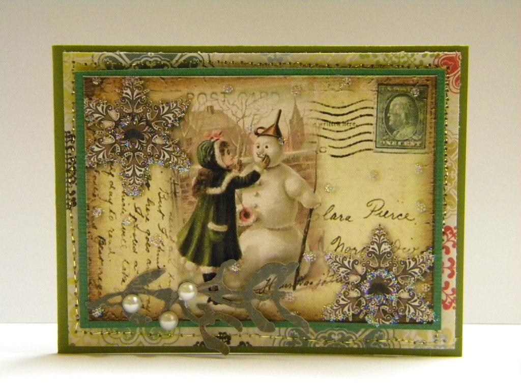Vintage snowman christmas cards the handmade card blog for Handmade snowman christmas cards