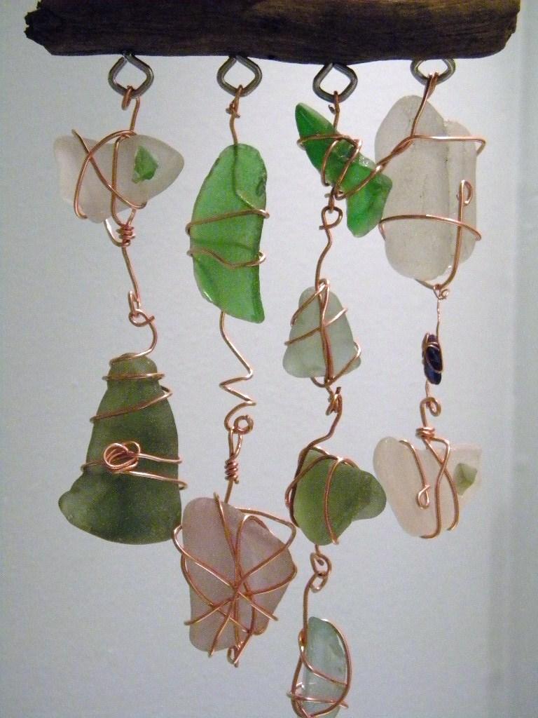Driftwood And Seaglass Mobile The Handmade Card Blog