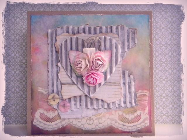 shabby rose pink
