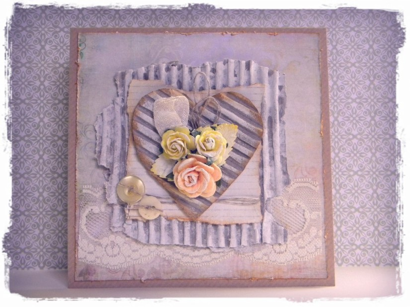 shabby rose yellow