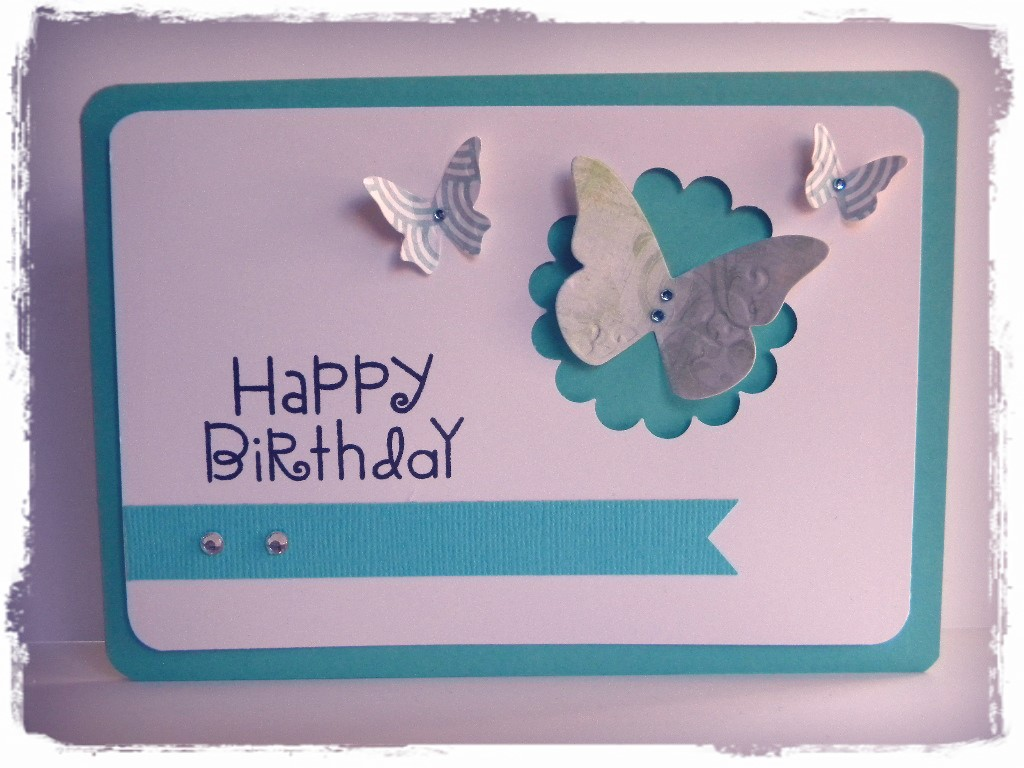 Handmade birthday card the handmade card blog page 2 happy birthday aqua m4hsunfo