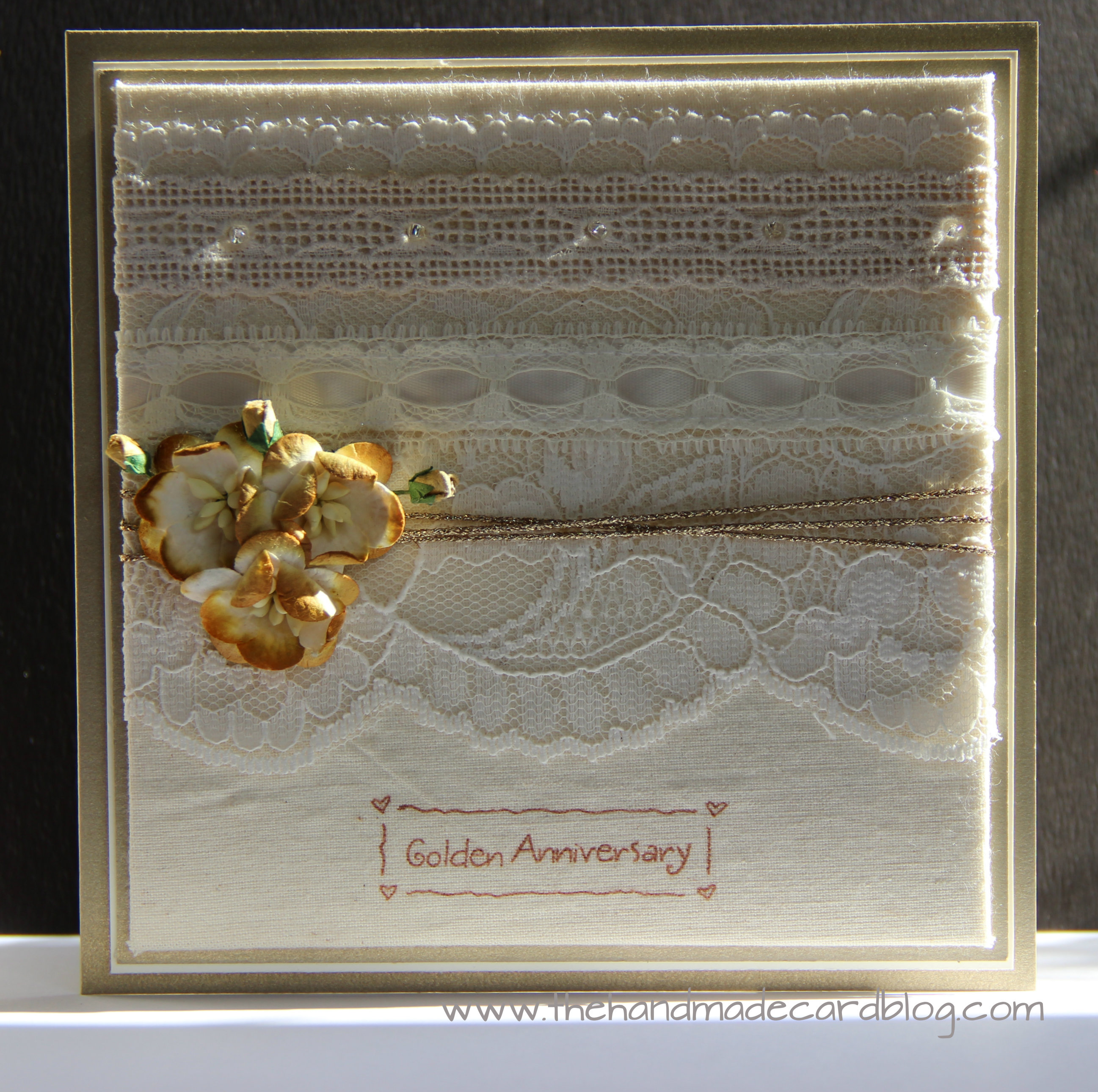 50th Wedding Anniversary Card | The Handmade Card Blog