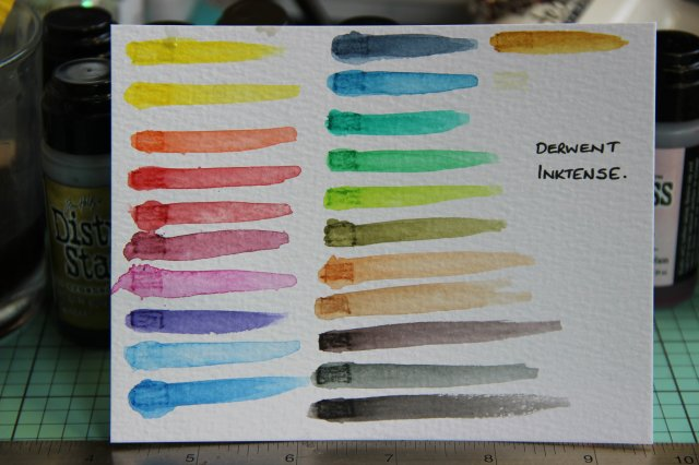 Derwent Inktense Watercolour pencils