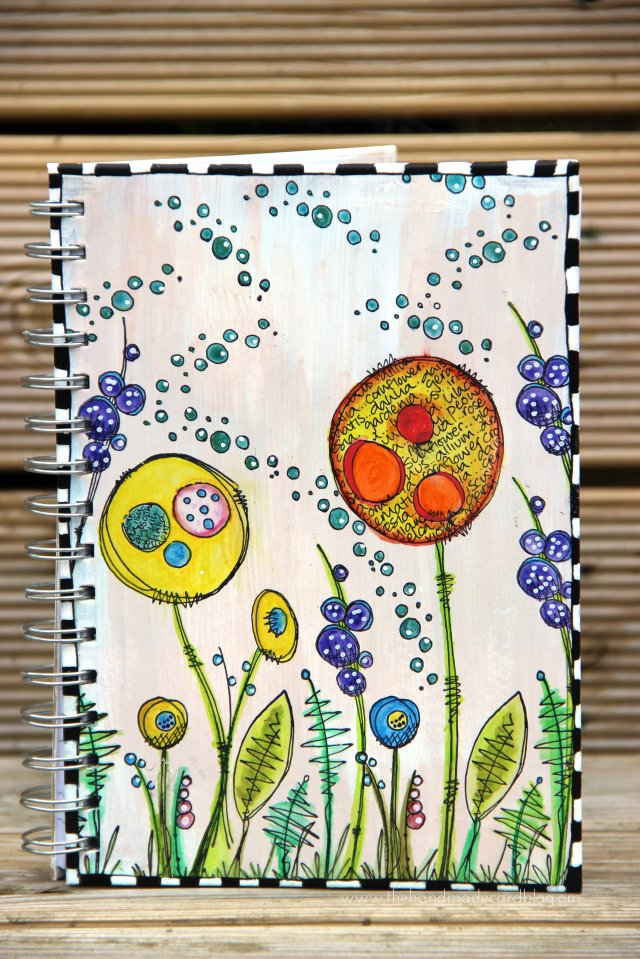 Jofy stamped altered notebook