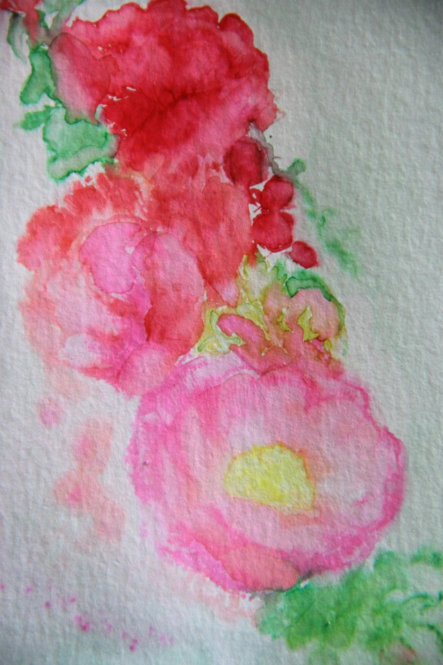 watercolour stamping #2