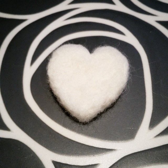 felted heart