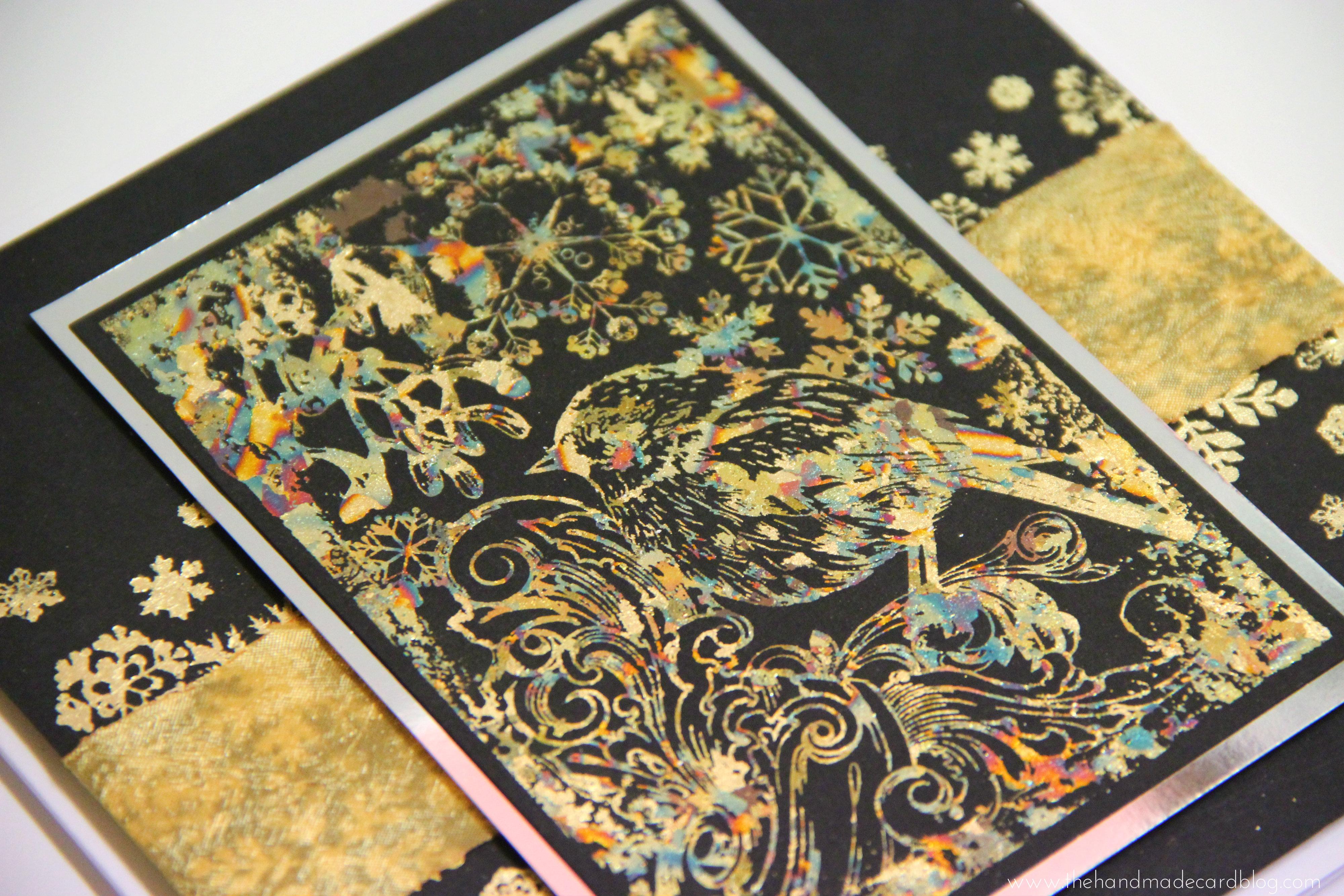 Mixed media paper crafting merry christmas card - Handmade Cards The Handmade Card Blog