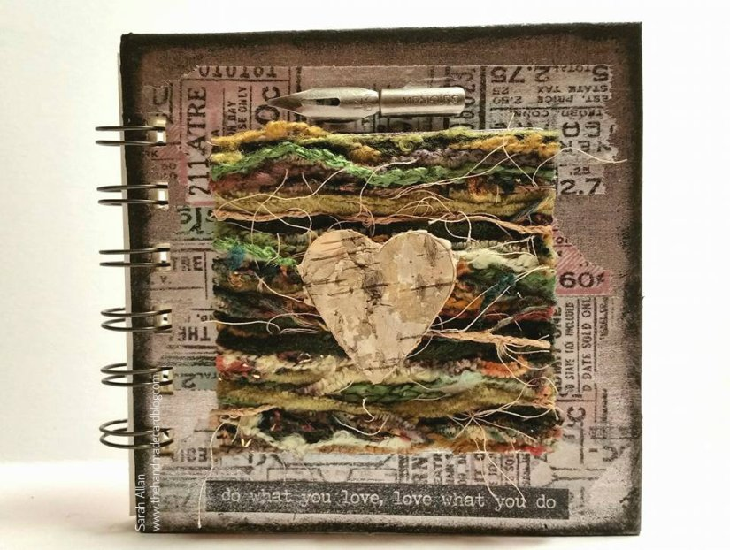 mixed media book a