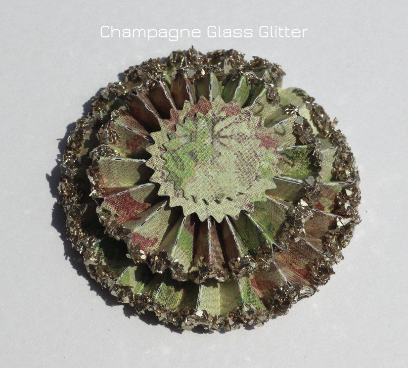 rosette glitter glass