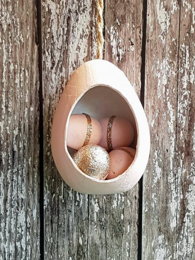 pink egg house