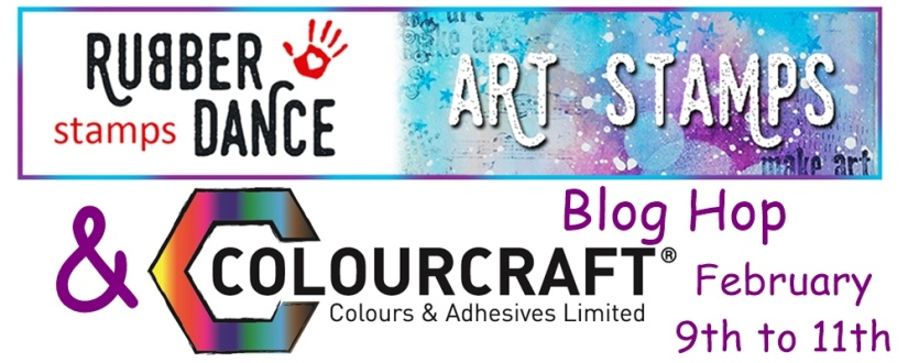 blog hop banner colourcraft rubber dance